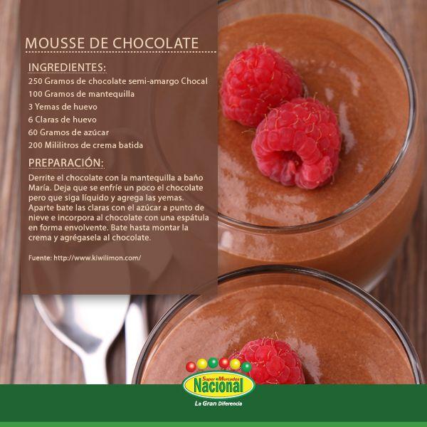 Mousse de Chocolate.