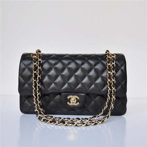 Chanel 2.55: Black Lambskin Leather and Gold Hardware