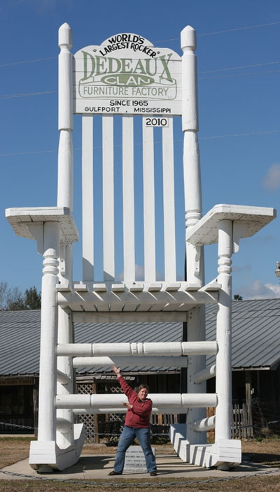 Gulfport, Ms....biggest rocker....located on Hwy 49. My parents have bought tons of furniture there.