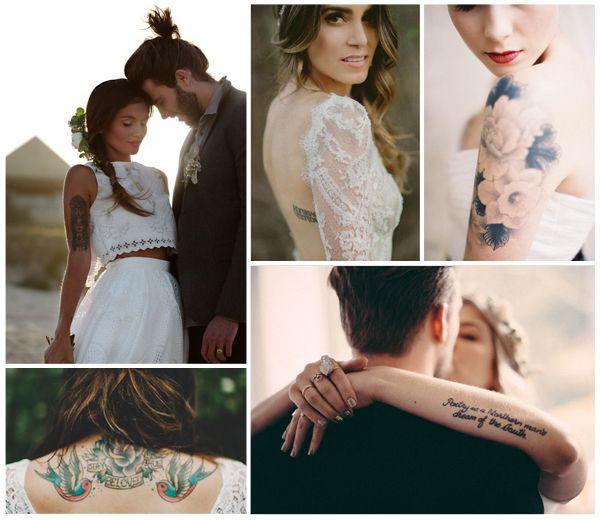 Zeg ja tegen inkt, permanent of niet, en omarm ook op je grote dag die tattoo. 14 ideeën voor bruidjes in de verf: