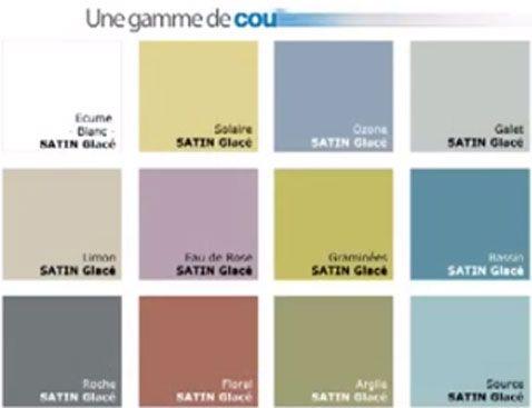 Nuancier peinture pour salle de bain 12 coloris hydroactiv - Peinture anti humidite pour salle de bain ...