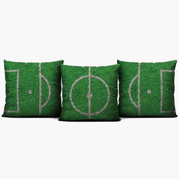 soccer field set throw pillow