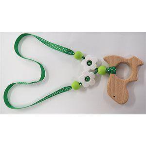 Collier pour bébé - Dinosaure vert