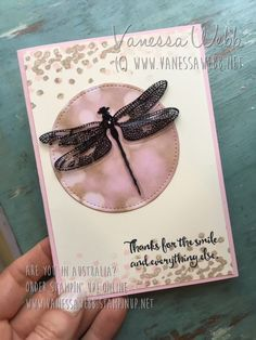 No Dragonflies were harmed in the making of this card......Vanessa Webb – Independent Stampin'Up! Demonstrator