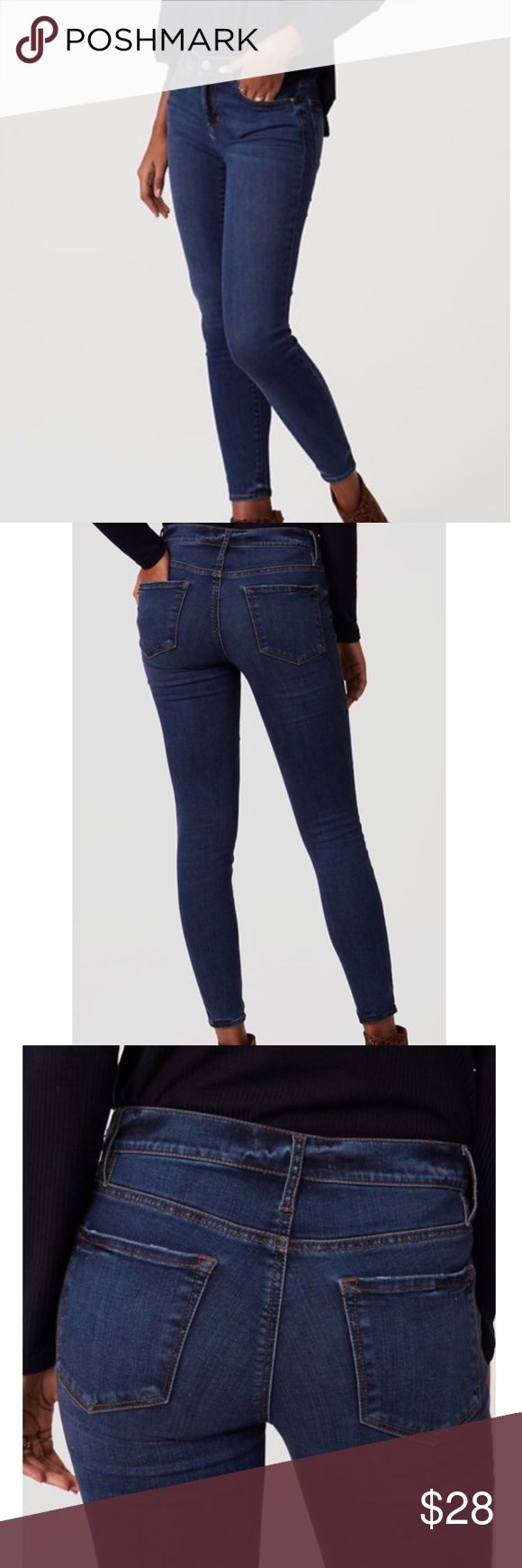 Loft Petite Denim Leggings in Vivid Indigo Wash Only worn once!! Petite Legging jeans give the comfort of a legging with the appearance and feel of skinny jeans. The authentic indigo wash is flattering and slimming, wearable day or night. Machine washable. LOFT Jeans Skinny