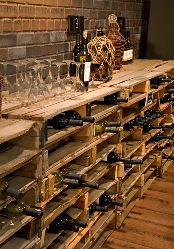 Regalen Aus Paletten Bauen Als Moderne Diy Weinregale