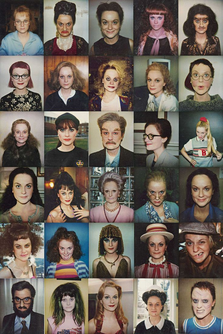 Amy Poehler's makeup test photos for the sketch comedy series Upright Citizens Brigade.