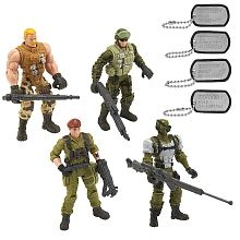 True Heroes - Sentinel One 4.5 inch Action Figure 4 Pack - Wolf, Ghost, Smash and Jumpstart
