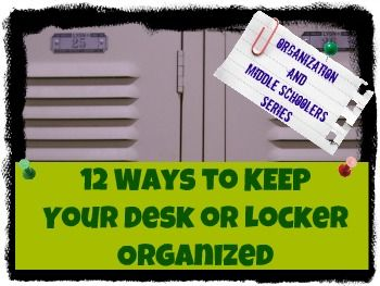 17 best images about locker organization on pinterest - How to keep your desk organized ...