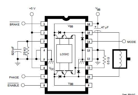 A3952S DC Servo Motor Controller Circuit Diagram