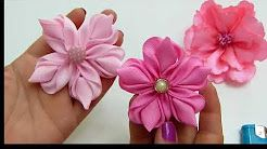 Hermosas Flores FÁciles de elaborar paso a paso, Tiaras para Bebe Tono Rosado ManualidadeslaHormig - YouTube