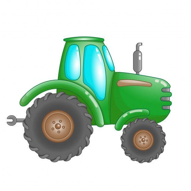 Tractor De Granja Verde De Dibujos Anima Premium Vector Freepik Vector Fondo Verde Dibujos Animados Granja Tractor Dibujos Dibujos Animados