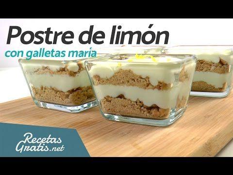 POSTRE DE LIMÓN con galletas María - Postres fáciles y rápidos SIN HORNO