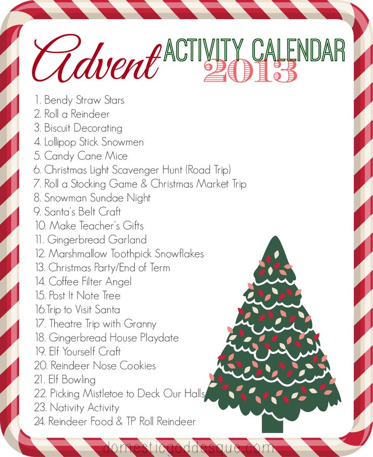 Christmas Calendar Ideas Preschool : Our advent activity calendar the activities crafts