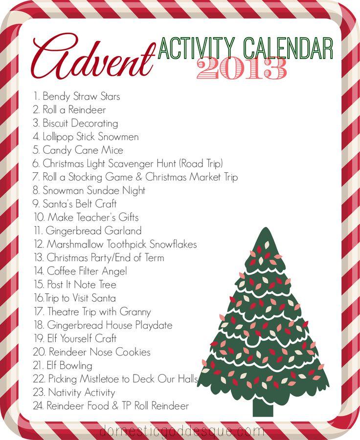 Advent Calendar Art Lesson : Our advent activity calendar the activities crafts