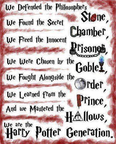 Harry Potter.. Palavras para descrever ? Não há, pois foi umas das melhores coisas que aconteceu no Universo. Magia mais amizade e amor, para completar umas das melhores coisas ' Fantasia ' ..