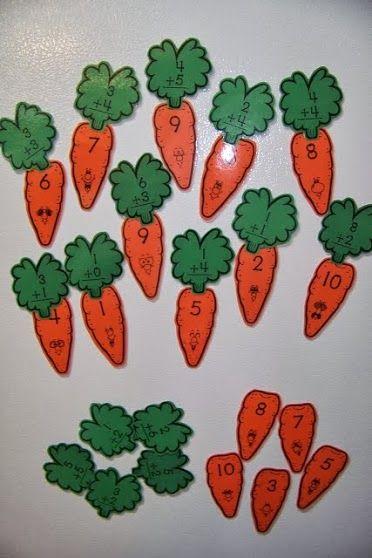 sumas con zanahorias