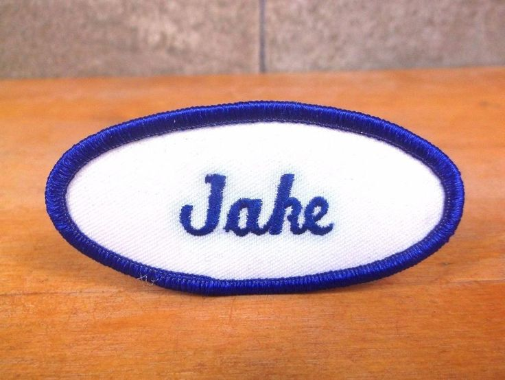 """Personalized """"JAKE"""" embroidered UNIFORM NAME PATCH, TAG employee mechanic Jacob #Unbranded"""