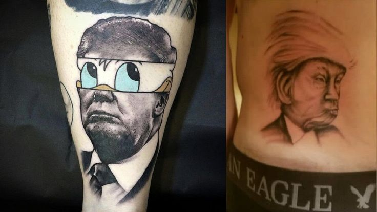 Attractive And Funny Donald Trump Tattoos
