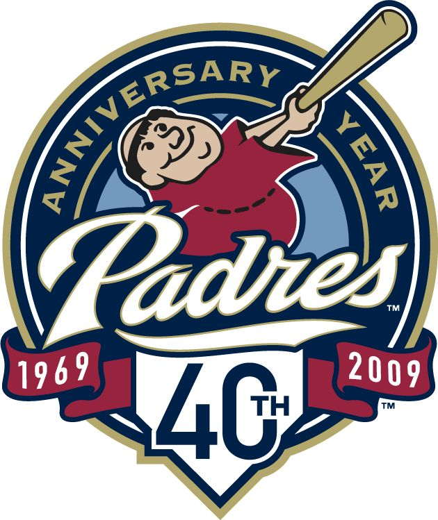 San Diego Padres Anniversary Logo (2009) - San Diego Padres 40th Anniversary Logo