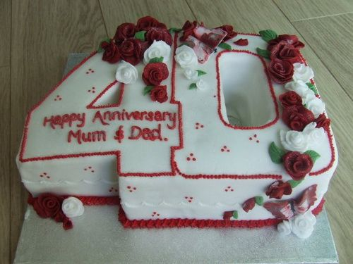 Ideas For 40th Wedding Anniversary Gifts: 1000+ Ideas About 40th Anniversary Cakes On Pinterest