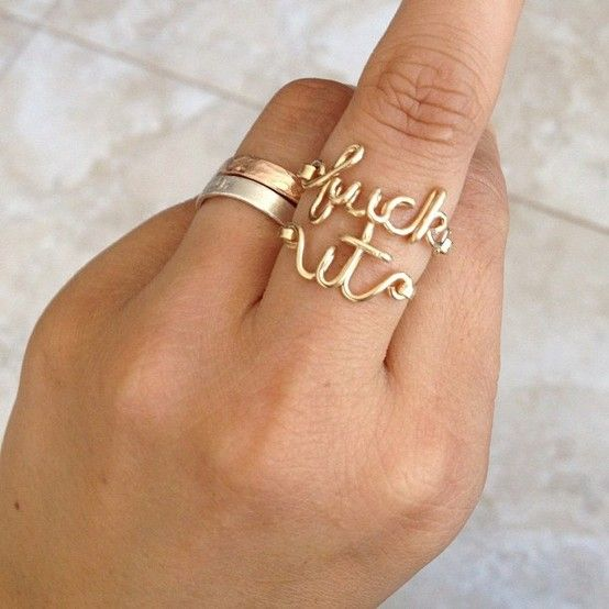 Gold or silver f*** it ring