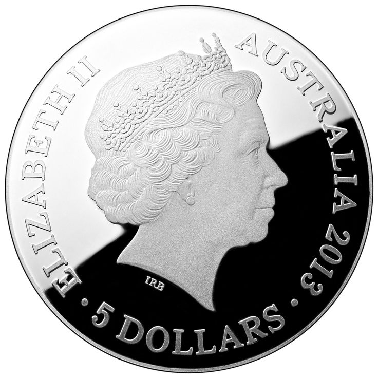 The obverse of our gorgeous 2013 Pavo Southern Skies Silver Proof Colour Printed $5 Domed Coin.