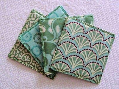 Reversible Fabric Coasters - TUTORIAL