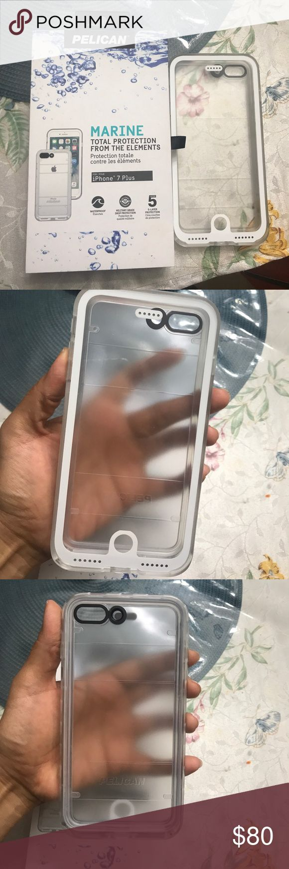 Pelican Marine waterproof iPhone 7 plus case NWT... bought for my dad but realized he has a 6 S plus not a 7plus... it is waterproof and works just like a lifeproof... brand new... nothing wrong with it ... perfect for summer vacation  pelican Accessories Phone Cases