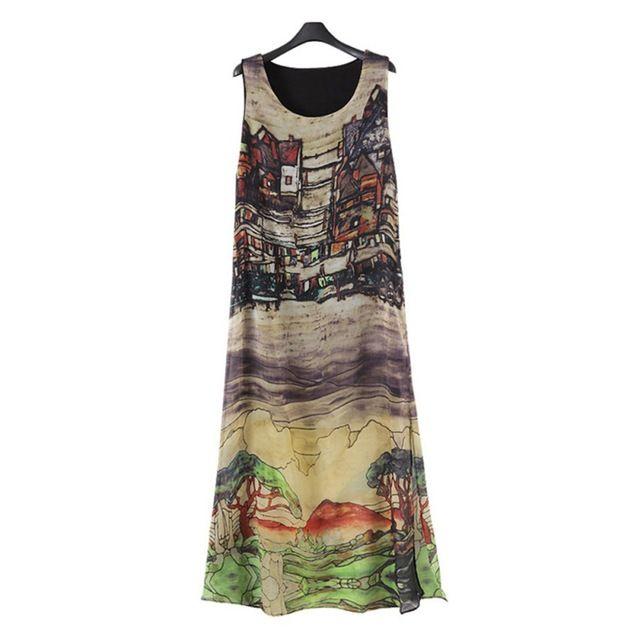Great Value $6.80, Buy New Fashion Women Sleeveless Silk Chiffon Long Maxi Dress Summer Beach Sundress Popular Dresses