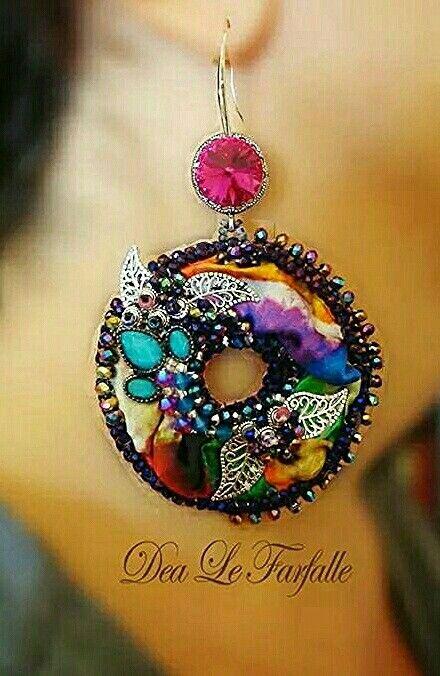 Dea Le Farfalle Creations Earrings Bead Embroidery