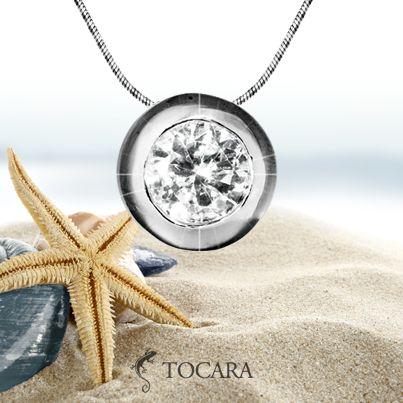 Tocara Clara Necklace | DiAmi - Rhodium plated - Sterling silver