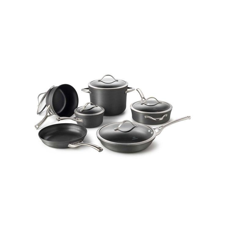 Calphalon Contemporary 11-pc. Hard-Anodized Nonstick Cookware Set, Grey