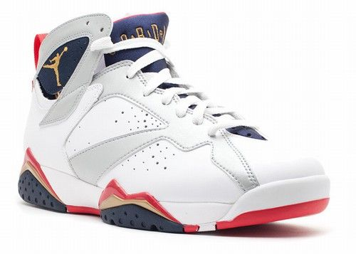 authentic air jordan 7 mens retro white mtllc gold-obsdn-tr rd olympic 2012  for sale