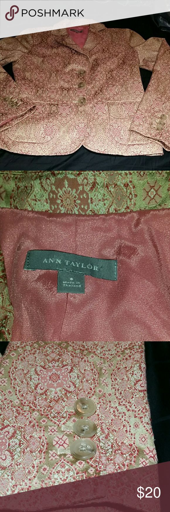 Beautiful  pink light pink blazer Gently used pink lined womens blazer Ann Taylor Jackets & Coats Blazers