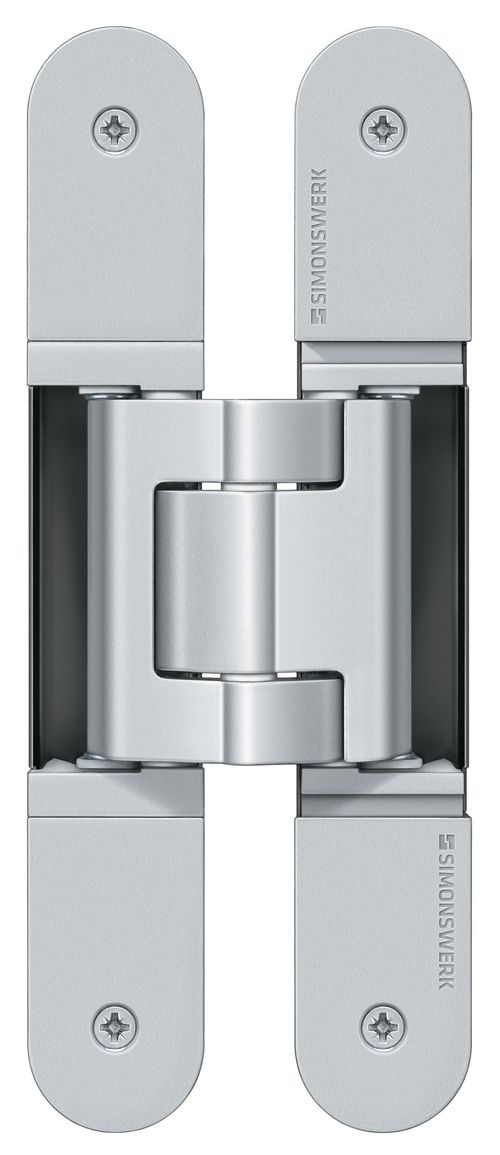 Products we like / / Silver / metal / Simple Shape / Furniture DEsign / at Simonswerk Tectus Concealed Hinges