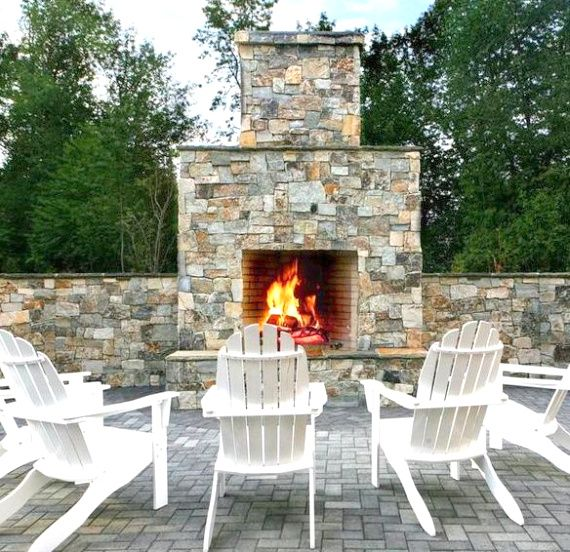 Glowing Outdoor Fireplace Ideas: 17 Best Images About Outdoor Fireplace On Pinterest