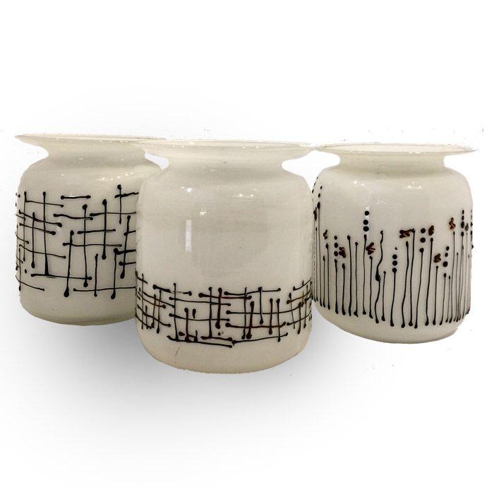 Handpainted glass vases fleria.gr