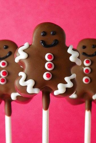 Gingerbread men Cake Pops #christmas  #winter