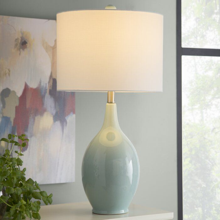 Three Posts Jaxxon 27 Table Lamp Reviews Wayfair Modern Table Lamp Living Room Table Lamps Living Room Lamps Living Room