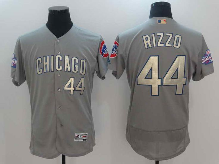 6a9f4c9ef8a ... Authentic Jersey - Majestic Chicago Cubs 44 Home Cool Base MLB ... 22  mens chicago cubs 44 anthony rizzo majestic grey 2017 gold program flex ...