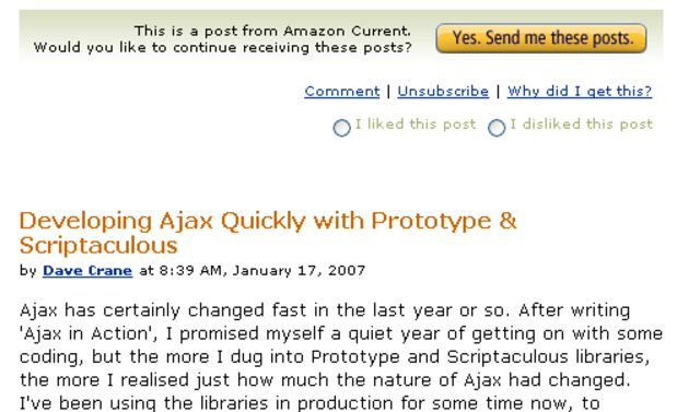 The New Face of Amazon - Tags, Ajax, Plogs