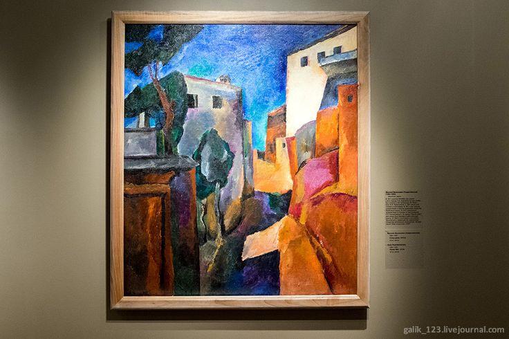 Сокровища Нукуса/Василий Васильевич Рождественский (1884-1963). Стена дома, 1910-е. Холст, масло