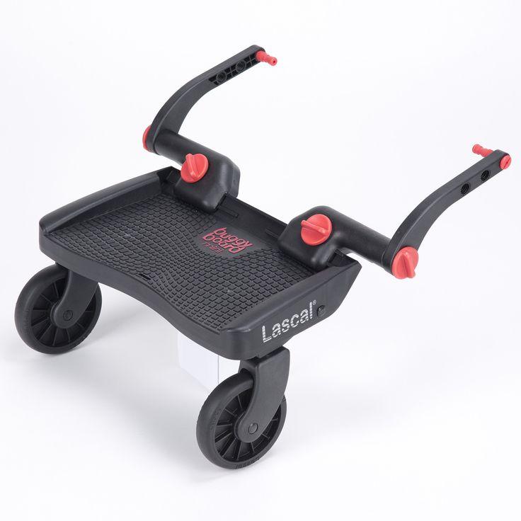 Buggyboard mini est une planche à roulettes universelle qui s'installe aisément sur toutes les poussettes et landaus. Confortable, sûr et amusant,c'est une sécurité pour votre enfant quand il y a foule ou de la circulation. Quand votre enfant est trop fatigué pour marcher, ou quand vous êtes pressé, la BuggyBoard facilite le déplacement pour tous deux.