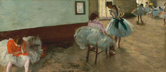 Edgar Degas - The Dance Lesson - c. 1879 - Painting