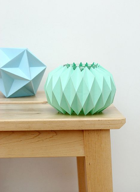 Tessellated Candle Holder DIY by all things paper, via Flickr