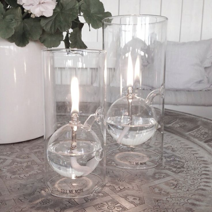 Beautiful oil lamps on the patio