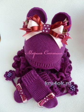 Вязаные крючком шапочки — работы Марины Стоякиной. Вязание крючком.