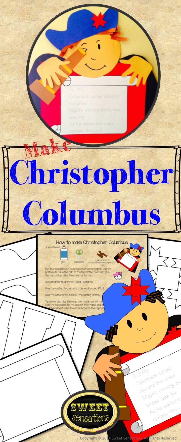 christopher columbus craft activity best of kindergarten christopher columbus social studies columbus day [ 720 x 1755 Pixel ]