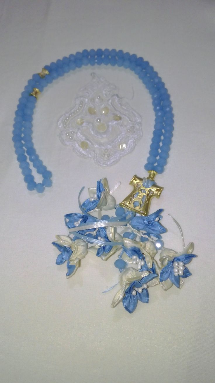 Mavi Taş,Kaftan İmame ve Mavi renk çiçek kombini. #tesbih #tasarım #moda #kadın #namaz #aksesuar #hediyelik